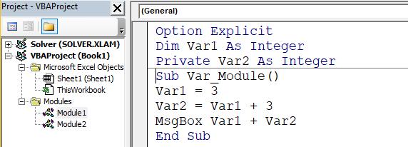 penggunaan variabel lingkup modul