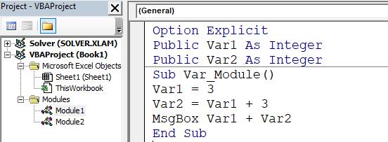 penggunaan variabel lingkup proyek